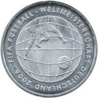 Deutschland 10 Euro 2005 Fußball-WM (Tornetz) stg