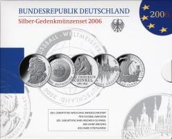 Deutschland Silber-Gedenkmünzenset  2006 PP