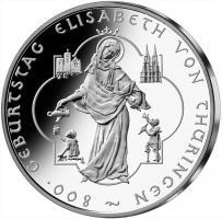 Deutschland 10 Euro 2007 Hl. Elisabeth stg
