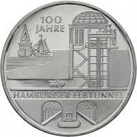 Deutschland 10 Euro 2011 Elbtunnel prfr
