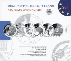 Deutschland Silber-Gedenkmünzenset 2011 PP