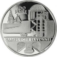 Deutschland 10 Euro 2011 Elbtunnel PP