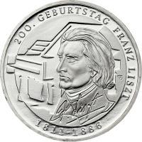 Deutschland 10 Euro 2011 Franz Liszt stg