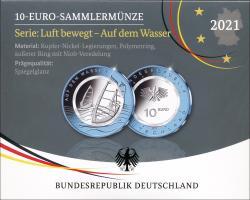 Deutschland 10 Euro 2021 Auf dem Wasser PP