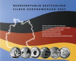 Deutschland Silber-Gedenkmünzenset 2003 PP