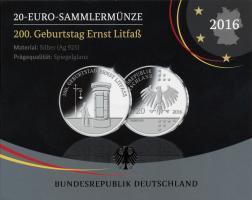 Deutschland 20 Euro 2016 Litfass PP