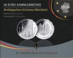 Deutschland 20 Euro 2016 Rotkäppchen PP