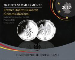 Deutschland 20 Euro 2017 Bremer Stadtmusikanten PP