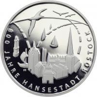 Deutschland 20 Euro 2018 800 Jahre Hansestadt Rostock PP