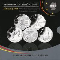 Deutschland 20-Euro-Sammlermünzenset 2018 PP