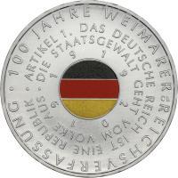 Deutschland 20 Euro 2019 100 J. Weimarer Reichsverfassung prfr