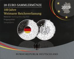 Deutschland 20 Euro 2019 100 J. Weimarer Reichsverfassung PP