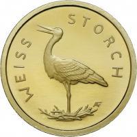 Deutschland 20 Euro 2020 Weißstorch (Gold)