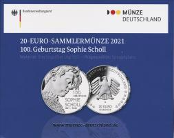 Deutschland 20 Euro 2021 Sophie Scholl PP