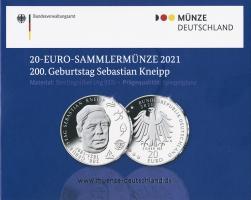 Deutschland 20 Euro 2021 Sebastian Kneipp PP