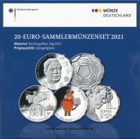 Deutschland 20-Euro-Sammlermünzenset 2021 PP