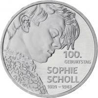 Deutschland 20 Euro 2021 Sophie Scholl prfr