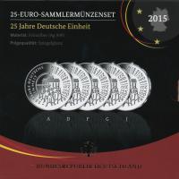 Deutschland 25 Euro 2015 25 Jahre Deutsche Einheit PP Sammlermünzset