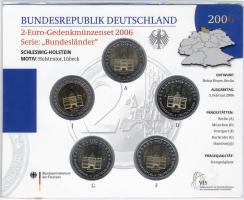 Deutschland 2-Euro-Gedenkmünzset 2006 Schleswig-Holstein (Holstentor) stg