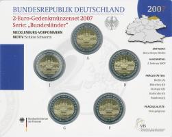Deutschland 2-Euro-Gedenkmünzset 2007 Mecklenburg-Vorpommern (Schweriner Schloß) stg