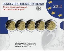 Deutschland 2-Euro-Set 2012 Euro-Bargeld PP