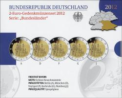 Deutschland 2-Euro-Set 2012 Bayern/ Neuschwanstein PP