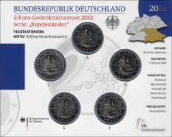 Deutschland 2-Euro-Set 2012 Bayern/ Neuschwanstein stg