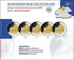 Deutschland 2-Euro-Set 2014 Niedersachsen/ St. Michaelis PP