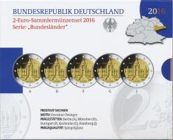 Deutschland 2-Euro-Set 2016 Sachsen PP