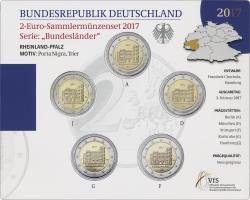 Deutschland 2-Euro-Set 2017 Rheinland-Pfalz stg