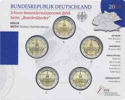 Deutschland 2-Euro-Sammlermünzenset 2018 Berlin (Schloss Charlottenburg) stg