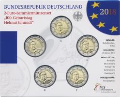 Deutschland 2-Euro-Set 2018 Helmut Schmidt stg
