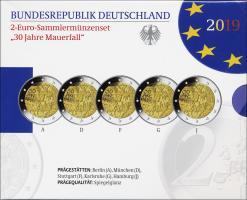 Deutschland 2-Euro-Set 2019 30 Jahre Mauerfall PP
