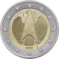 Deutschland 2 Euro 2019 A Kursmünze prfr