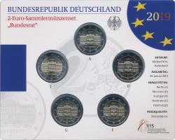 Deutschland 2-Euro-Set 2019 Bundesrat stg