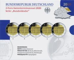 Deutschland 2-Euro-Gedenkmünzset 2020 Brandenburg (Schloß Sanssouci) PP