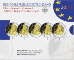 Deutschland 2-Euro-Sammlermünzenset 2020 50 Jahre Kniefall von Warschau PP