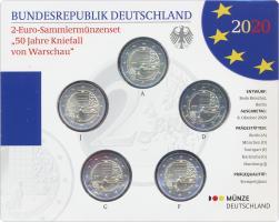 Deutschland 2-Euro-Sammlermünzenset 2020 50 Jahre Kniefall von Warschau stg