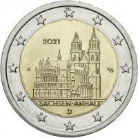 Deutschland 2 Euro 2021 Sachsen-Anhalt (Magdeburger Dom) prfr