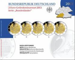 Deutschland 2-Euro-Gedenkmünzset 2013 Baden-Württemberg (Kloster Maulbronn) PP