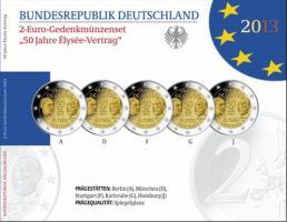 Deutschland 2-Euro-Set 2013 Élysée-Vertrag PP