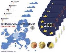 Deutschland Euro-KMS 2008 PP komplett