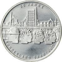 Deutschland 10 Euro 2007 Saarland stg
