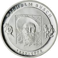 Deutschland 10 Euro 2007 Wilhelm Busch stg