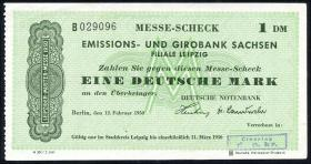 Leipziger Messe Scheck 1 DM 1950 Muster (1-)