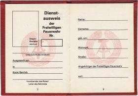 Dienstausweis der Freiwilligen Feuerwehr