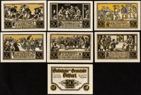 Notgeld Ditfurt 6 x 50 Pfennig