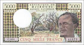 Djibouti P.38d 5000 Francs (1979) (1)