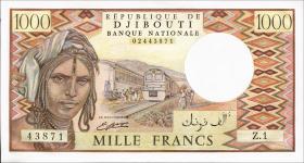 Djibouti P.37b 1000 Francs (1988) (1)