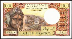 Djibouti P.37c 1000 Francs (1991) (1)